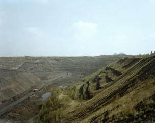 Voormalige Russische Uraniumgroeve, Duitsland, Ronneburg, 2001