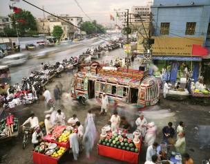 Karachi, Islamitische Republiek Pakistan. Aantal inwoners: 13,9 miljoen