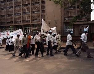 Demonstratie,  Uganda, 2009
