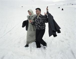 Wintersportgebied in de omgeving van Bcharre, Libanon, 2005