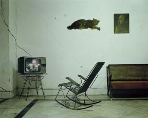 Kamer met schommelstoel, Cuba, 2001