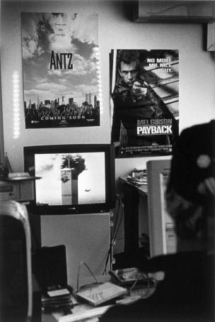 Montagekamer TV Rijnmond, Rotterdam, Nederland, 1998