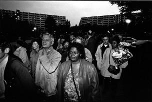 Irma tijdens de Bijlmerramp-herdenking in 1995, Amsterdam, Nederland, 1995