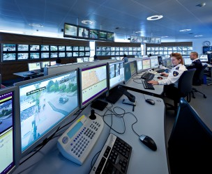 Cameratoezicht Politie Rijnmond, Rotterdam, Nederland