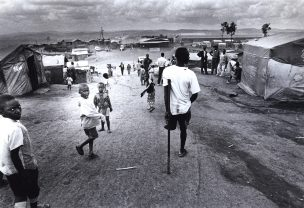 Vluchtelingenkamp in Rwanda, Oost-Afrika, 2000