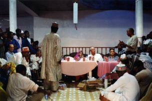 Speciaal rapporteur voor 'Vrijheid van religie en levensovertuiging' Asma Jahangir tijdens een officieel bezoek, Luanda, Angola, 2007