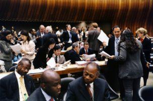 Gedelegeerden Mensenrechten-Commissie, Palais des Nations, Genève, 2005