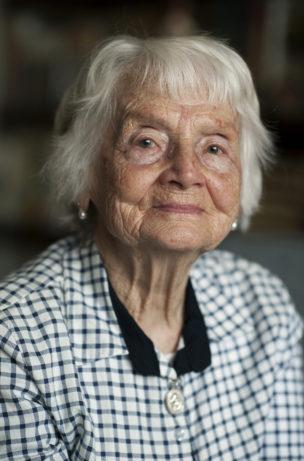 Irene (in 1941 als 13 jarige gedeporteerd vanuit Litouwen naar de Laptev Zee), Kaunas, Litouwen, 2017