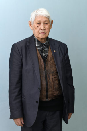 Nikita (in 1942 met 80 andere kolchozen gedeporteerd vanuit Tsjoerapsja naar de Laptev Zee), Universiteit, Yakutsk, Siberië, Rusland, 2018