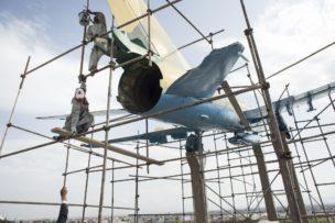 Russisch gevechtsvliegtuig in Jihad Museum, Herat, Afghanistan, 2016
