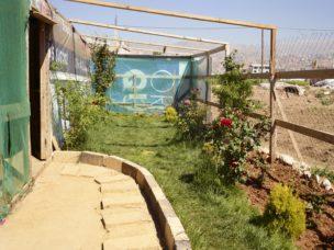 Tuin van gezin van Ahmet uit Homes, Beqaa vallei, Libanon, mei 2018